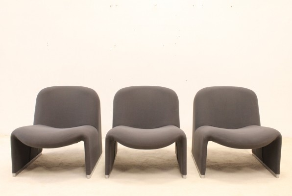 3 x Alky lounge chair by Giancarlo Piretti for Anomia Castelli, 1960s