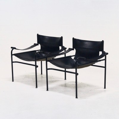 Set of 2 Lounge Chairs by Walter Antonis for 't Spectrum, 1970's