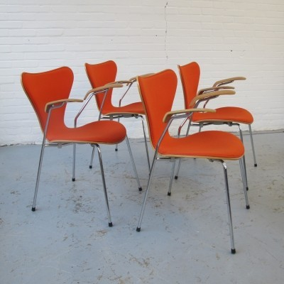 4 X Butterfly Dinner Chair By Arne Jacobsen For Fritz Hansen, 1990s