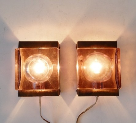 Pair of Maritim lampet wall lamps by Vitrika, 1960s
