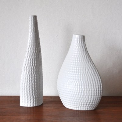 Pair of Reptil vases by Stig Lindberg for Gustavsberg, 1950s