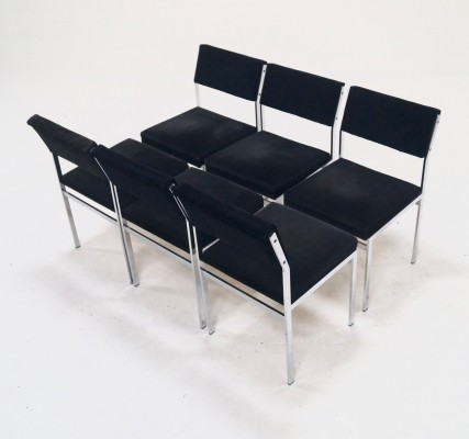 Set of 6 Japanese Series Dining Chairs by Cees Braakman for Pastoe, 1970's