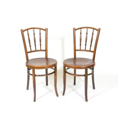 Pair of Thonet dinner chairs, 1950s