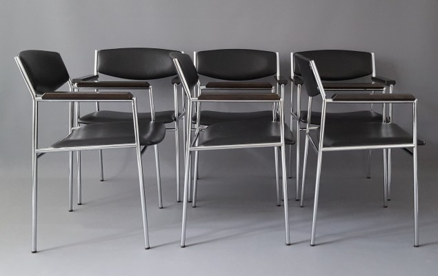 Set of 6 Dining Chairs by Gijs van der Sluis for 't Spectrum