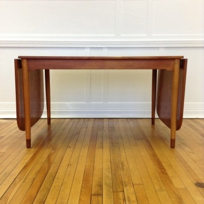 Teak & Beech Extending Dining Table by Borge Mogensen, 1950s