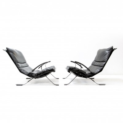 Pair of Tuman lounge chairs by Pep Bonet for Levesta, 1960s