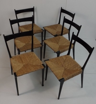 Set of 6 dinner chairs by Alfred Hendrickx for Belform, 1950s
