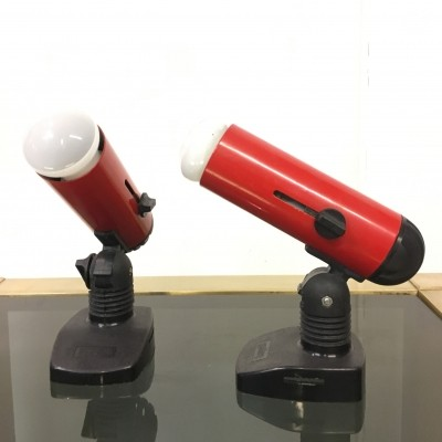 Pair of Targetti spotlights, 1980s