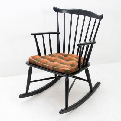 WG10 rocking chair by Børge Mogensen for FDB Møbler, 1950s