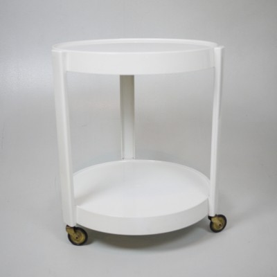 White two levels Italian side table, 1970s