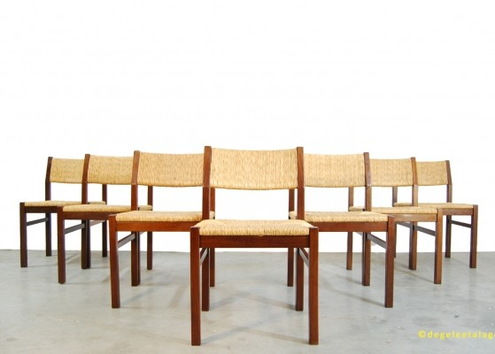 7 x Pastoe dining chair, 1960s