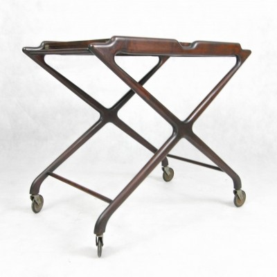 Expandable serving cart by Cesare Lacca, Italy 50's