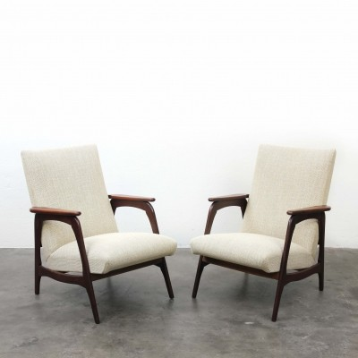 Pair of Rosewood Lounge Chairs, 1960s