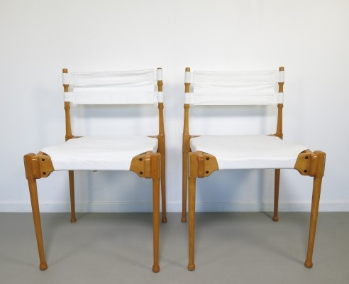 Pair of Montreal dining chairs by Frei Otto for Karl Fröscher & Co, 1960s
