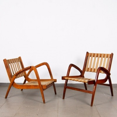 Pair of A. Kropacek arm chairs, 1950s