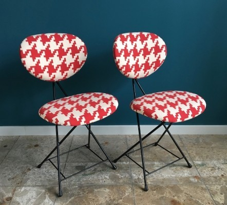 Set of 2 chairs by Rob Parry, 1950s