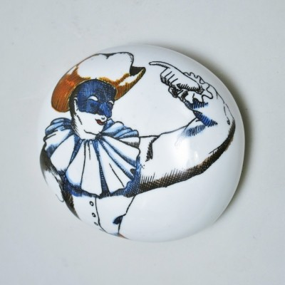 Pulcinella Paper weight by Piero Fornasetti for Fornasetti Milano, 1950s