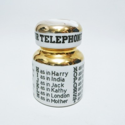 For your telephone message Paperweight by Piero Fornasetti for Fornasetti Milano, 1960s