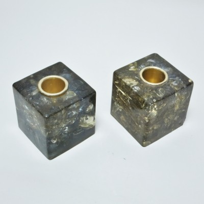 Cubes Fractals Candleholders by Pierre Giraudon, 1970s