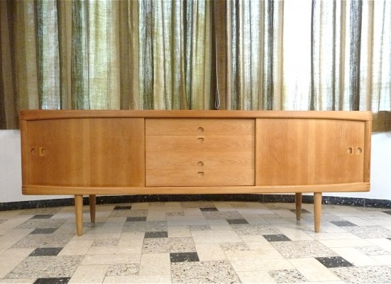 Oak sideboard by Henry W. Klein for Bramin, 1960s