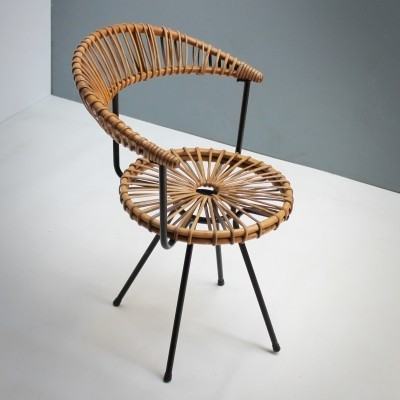 Rattan side chair by Rohe, Holland