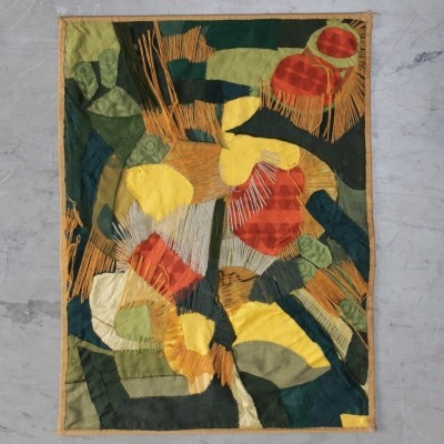 Tapestry 'In Vogelvlucht' by the dutch artist Hans A. Gorter