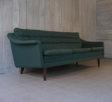 Forrest green sofa by DUX, 1950s