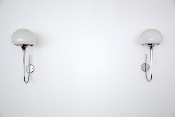 Rare Pair of Goffredo Reggiani Sconces, Italy, 1970's