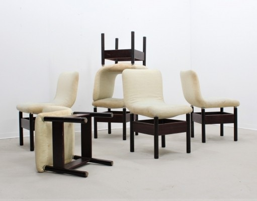 Set of 6 dining chairs by Vittorio Introini for Saporiti, 1960s