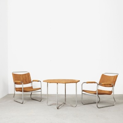 Seating group by Bas van Pelt for EMS Overschie, 1930s