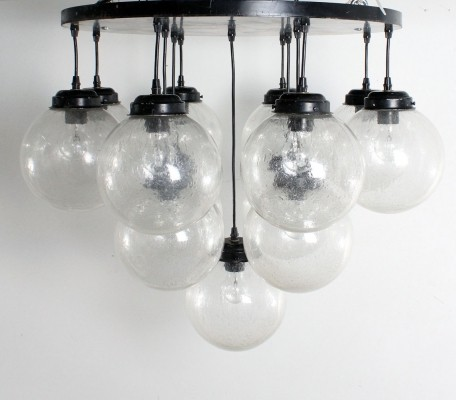 2 x Chandelier ceiling lamp by Glashütte Limburg, 1960s