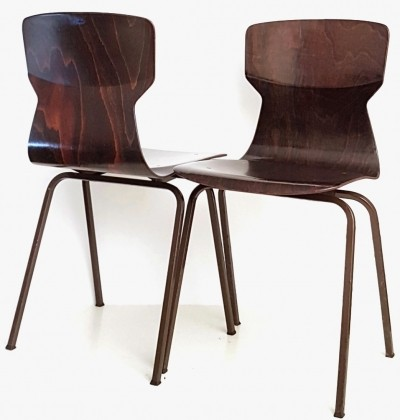 Plywood school chair by Eromes, 1960s