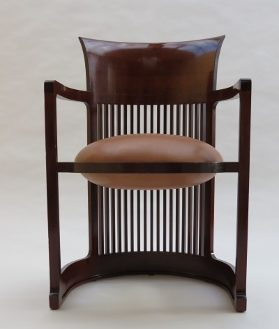 Barrel Taliesin dining chair by Frank Lloyd Wright for Cassina, 1980s