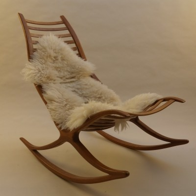 Wishbone rocking chair by Robin Williams for Robin Williams UK, 1970s