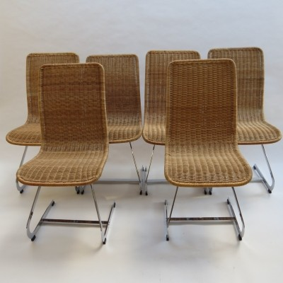 Set of 6 dinner chairs by Richard Young for Merrow Associates, 1970s