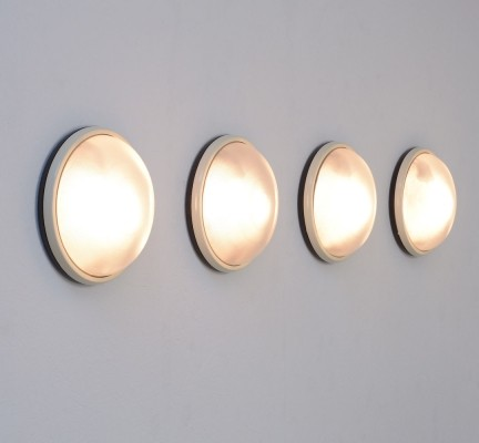 Minimal Circular 'Nova' Wall or Ceiling Lamps by Prisma