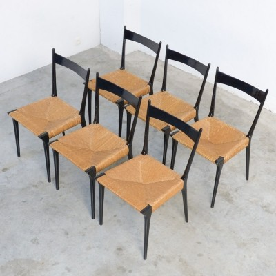 Set of 6 Alfred Hendrickx S2 Dining Chairs by Belform