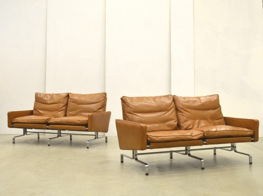 Pair of PK31 sofas by Poul Kjærholm for E. Kold Christensen, 1970s