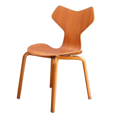 Grand Prix Chair in Teak by Arne Jacobsen