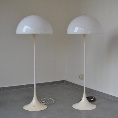 2 x Panthella floor lamp by Verner Panton for Louis Poulsen, 1960s