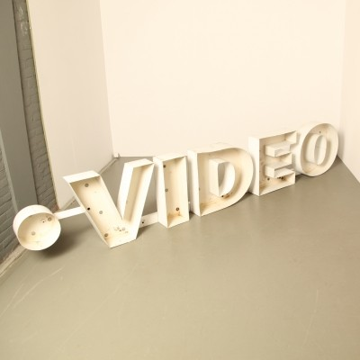 'Video' advertising sign / letters