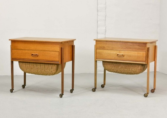 Scandinavian Sewing tables / End tables, 1960s