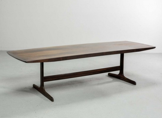 Large Dutch Design Rosewood Coffee Table by Fristho for Topform, 1960s