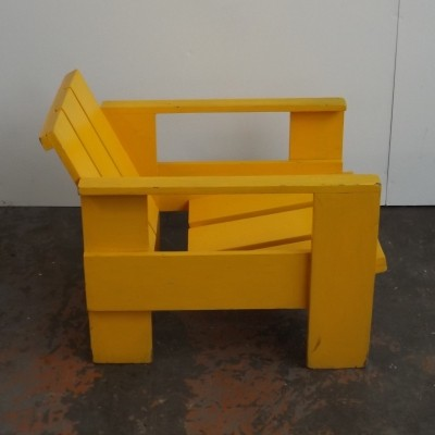 Crate lounge chair by Gerrit Rietveld for Metz & Co, 1950s
