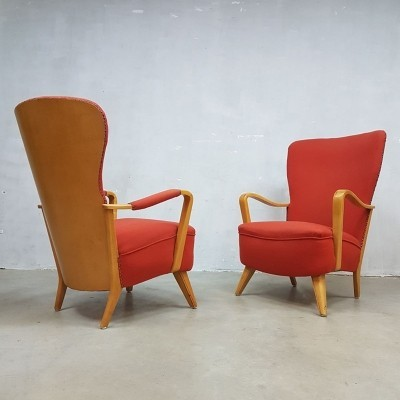 2 x Lucie arm chair by Cees Braakman for Pastoe, 1930s