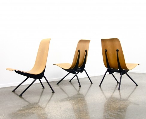 4 x Antony chair by Jean Prouvé for Vitra, 1990s