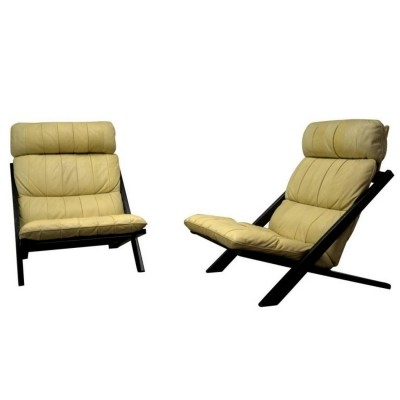 Pair of lounge chairs by Ueli Berger for De Sede, 1970s