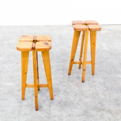 Pair of stools by Lisa Johansson Pape for Stockmann Orno, 1960s