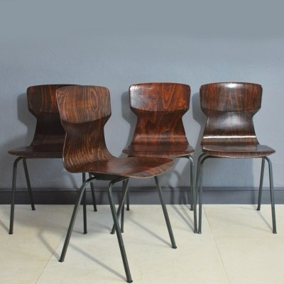 Set of 4 Eromes dining chairs, 1960s