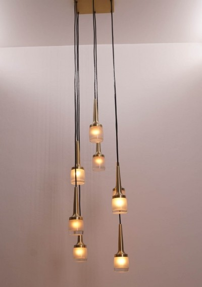 Cascade Light with eight Staff Pendants